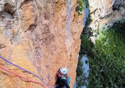 """Véro - """"La Cerise sur le gateau"""" falaise d'Aiglun"""