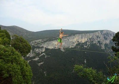 Cyril - Highline dans le Verdon
