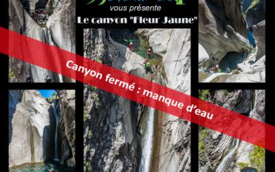 News des canyons après le passage de Berguitta