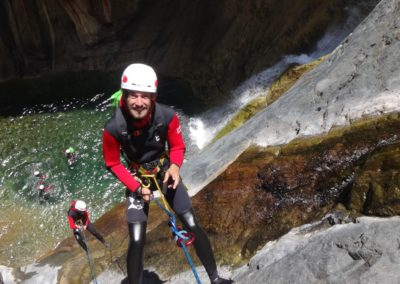 canyoning bras rouge